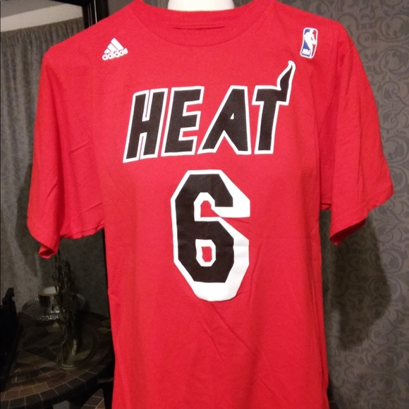 timeless design d5315 fd63a Adidas, LeBron James, Miami Heat, T Shirt.